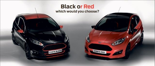 Fiesta Zetec S Red and Black Editions